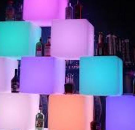 15 Cube Display Wall Invisions Party Hire